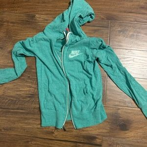 Green Nike zip up